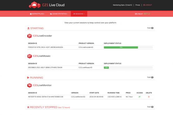 C21 Live Cloud inicio