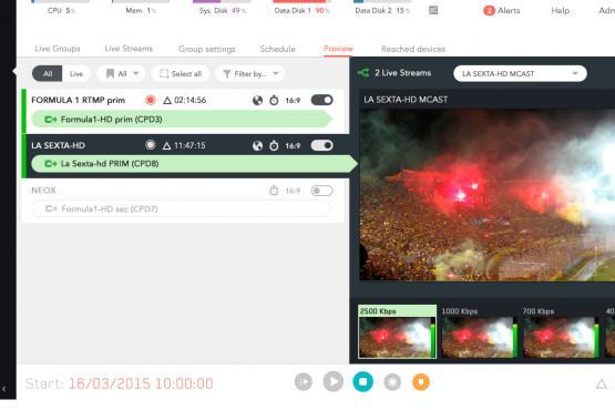 vista previa live encoder